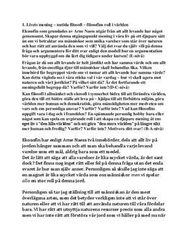 Ekosofi | Wittgenstein | Diskuterande text