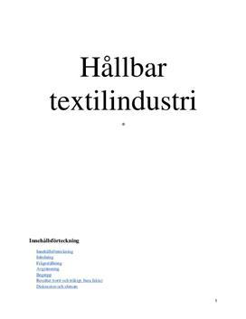 Hållbar textilindustri | Rapport