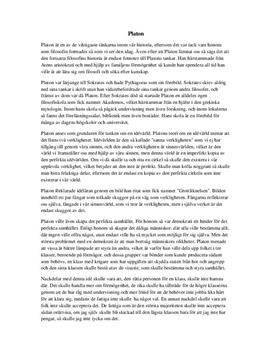 Platon | Sammanfattning