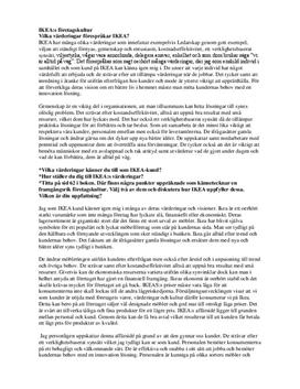 Företagskultur hos IKEA | Diskuterande text