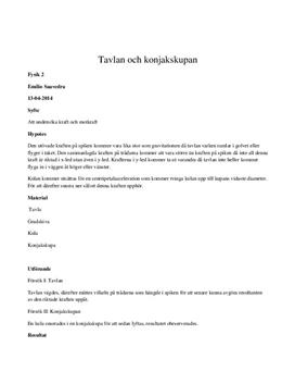 Tavlan och konjakskupan (Lab 3 Hermods) | Labbrapport