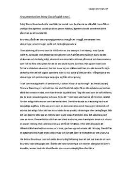 Pierre Bourdieus teori om habitus | Diskuterande text