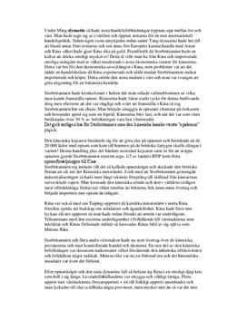 Kinas ekonomiska historia   Fördjupningsuppgift