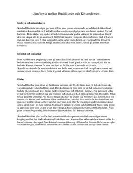 Buddhismen och Kristendomen | Jämförelse