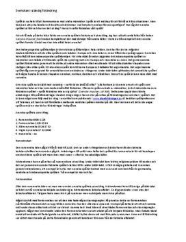Svenska språkets historia | Sammanfattning