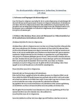 De abrahamitiska religionerna | Kristendom och judendom | Frågor och svar