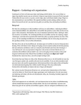 Konflikthantering på arbetsplats | Intervju med enhetschef | Rapport