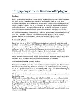 Konsumentköplagen och ARN | Fördjupningsuppgift
