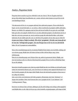 Flugornas Herre | Analys av gruppdynamik