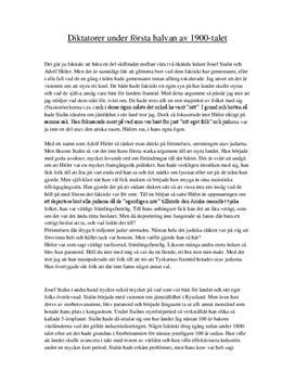 Diktatorer under 1900-talet: Hitler och Stalin | Jämförelse