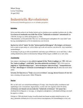 Industriella revolutionen | Fördjupningsarbete