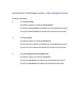 Kriminologins grunder | Instuderingsfrågor
