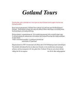 Turism på Gotland | Inlämningsuppgift
