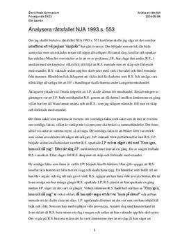 Rättsfallet NJA 1993 s. 553 | Analys