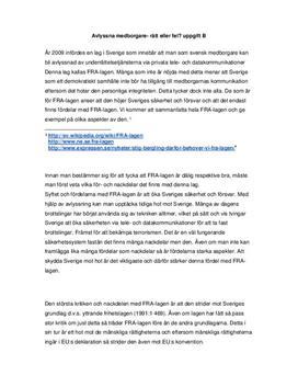 Fördelar och nackdelar med FRA-lagen | Utredande text