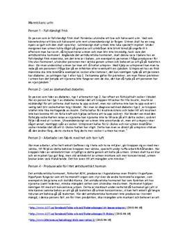 Sjukdomars påverkan på urinen | Fördjupningsuppgift