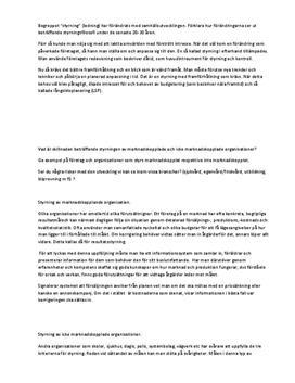 Företagsstyrning | Inlämningsuppgift