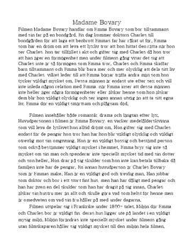 Madame Bovary | Filmanalys