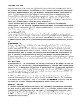 Kalla kriget: Kronologisk överblick | Sammanfattande analys