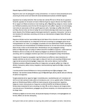 Utvärdering av kandidatexamensarbete | Analys
