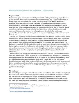 Nationalism, rasism och imperialism | Fördjupningsuppgift