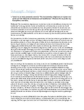Diskussion: Monoteistiska religioner och hinduism och buddism