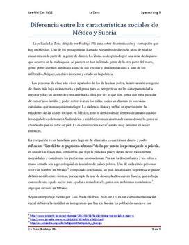 Discriminación Social | La Zona | Jämförelse Mexiko och Sverige