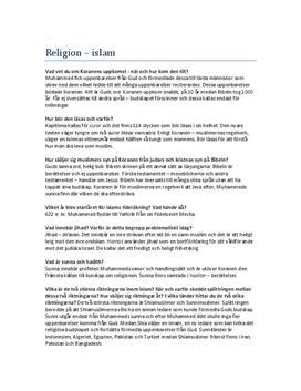 Islam | Frågor och svar