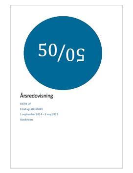 Årsredovisning: 50/50   Ung företagssamhet   Rapport