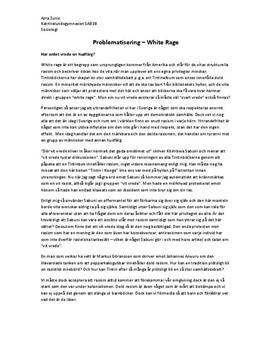 Problematisering: White Rage | Diskuterande text
