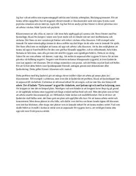 Ergonomi i skolan | Inlämningsuppgift