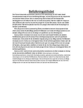 Befolkningstillväxt: Orsaker och teorier | Utredande text