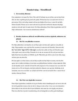 Moralfilosofi: Etiskt dilemma | Analys