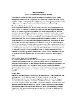 Språkutveckling: Inför fler digitala verktyg i skolan | Argumenterande text