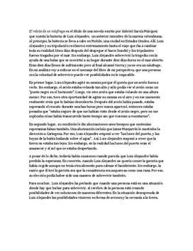 El relato de un náufrago | Analys