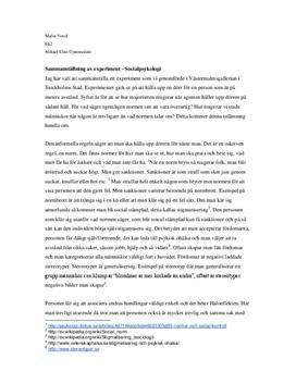 Experiment i socialpsykologi | Normer om artighet