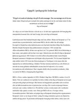 Entreprenörsporträtt av Ingvar Kamprad | Inlämningsuppgift