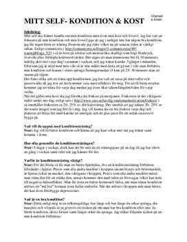 Konditionsträning: Joggning och löp | Aktivitetsplanering