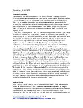 Koreakriget| Kausalanalys
