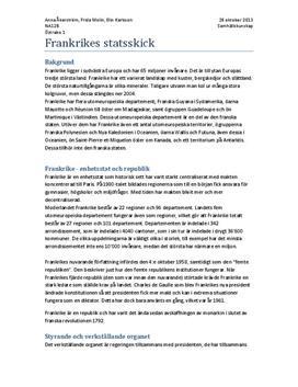 Frankrikes statsskick | Fördjupningsarbete
