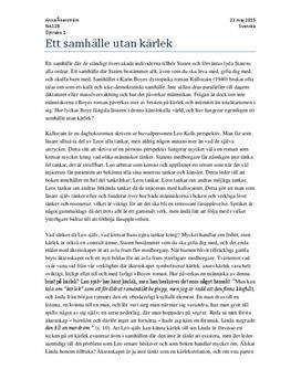 Ett samhälle utan kärlek - Kallocain | Essä