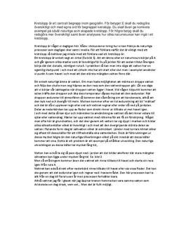 Hållbar utveckling och livsmiljö | Fördjupningsarbete