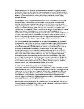 Fördjupningsarbete: Exogena och endogena processer, grundämnen, bergarter och kretslopp