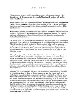 Hinduism och Buddhism: Karma och kastsystemet | Instuderingsfrågor