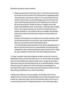 Imperialismens framväxt | Sveriges neutralitet under andra världskriget | Historiska personer | Analys