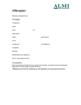 Affärsplan | Handelsbolag | Inlämningsuppgift