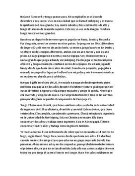 Presentation av mig själv på spanska | Inlämningsuppgift