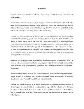 Direkt och indirekt demokrati | Diskuterande text