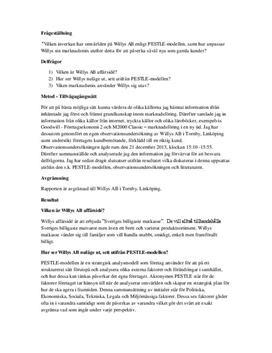 Willys: Affärsidé och marknadsmix | Fördjupningsarbete