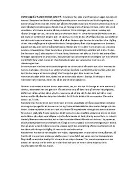 Internationell handel | Frågor och svar